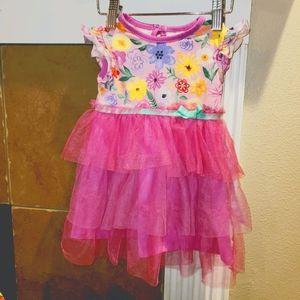 MATILDA JANE Floral Tulle Skirt Tunic Dress Shirt